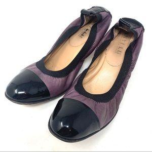 ANYI LU Payge Flexible Pump Cap Toe Heels 39.5 B40